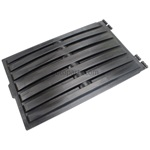 "37"" x 58"" Black Poly Lid Single Wall Double Lip"