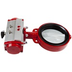 "Bray Butterfly Valve With 8"" Air Actuator Clockwise Action"