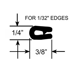 "Extra Small 1/32"" Edge Trim Seals"