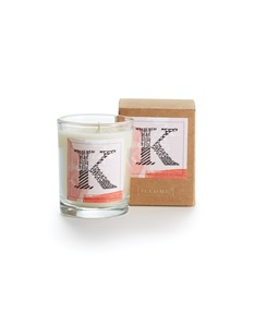 Monogram K Boxed Votive