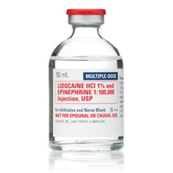 Lidocaine/Epinephrine Injection 1%, 50mL