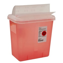 2 Gallon Translucent Red Container - Locking Horizontal Lid