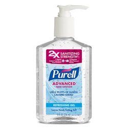 8 oz. Purell Hand Sanitizer - Gel Pump Bottle
