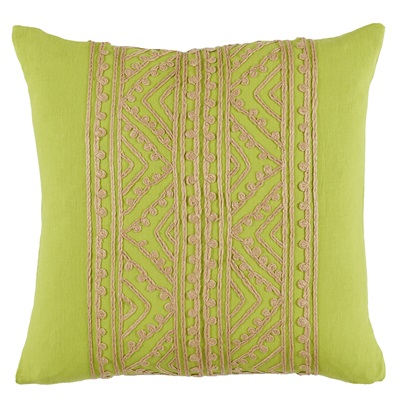 Spring Green Lace Pillow