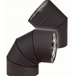 VENTIS®  DOUBLE WALL BLACK STOVE PIPE ELBOWS