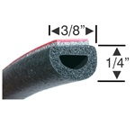 Peel-N-Stick Small Hollow Half Round - 30ft