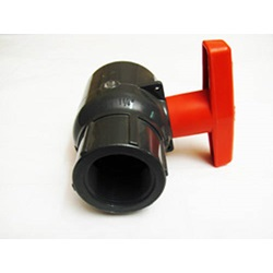 "1 - 1/4"" FPT Compact Ball Valve - PVC"