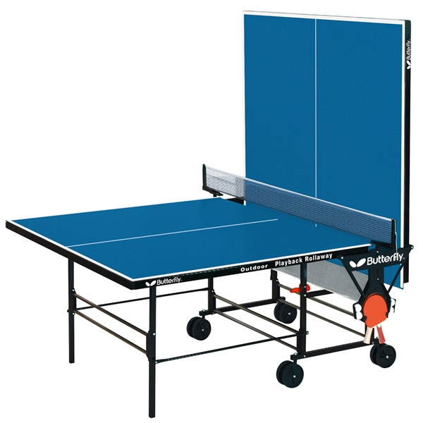 Backyard Table Tennis Rules : Butterfly Table Tennis  Outdoor Playback Rollaway Table Durable