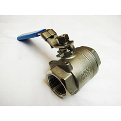 "1 - 1/4"" Stainless Steel Full Port Locking Ball Valve"