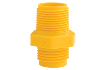 "Poly 3/4"" Male Garden Hose Thread x 3/4"" MPT 
