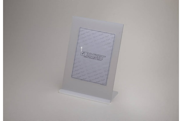 ACRYLIC SIGN HOLDER W/ BASE
