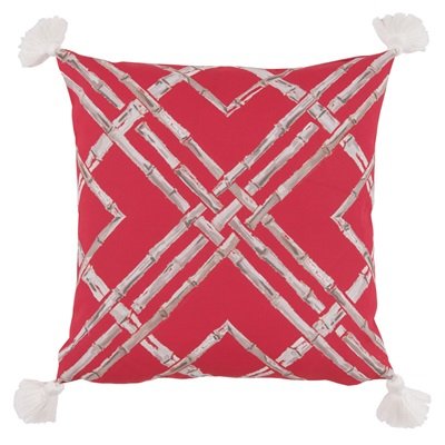 Outdoor Bamboo Hot Pink Pillow