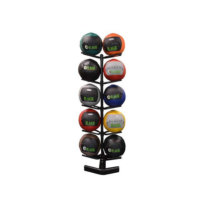 RAGE VERTICAL MEDICINE BALL RACK - 5 TIER