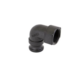 "1 1/2"" 90° Male Adapter x 1 1/2"" FPT - Banjo Cam Lever Coupling"