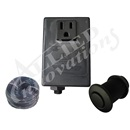 CONTROL: TF-1 120V 1.0HP PKG WITH #15 MATTE BLACK BUTTON