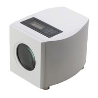 SINGLE WATCH WINDER WHITE LACQUER FINISH AND GREY LEATHERETTE