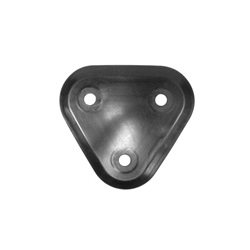 Rear spare wheel carrier pad