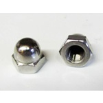 "Stainless Steel Acorn Nut 3/8"" x 24 Thread"