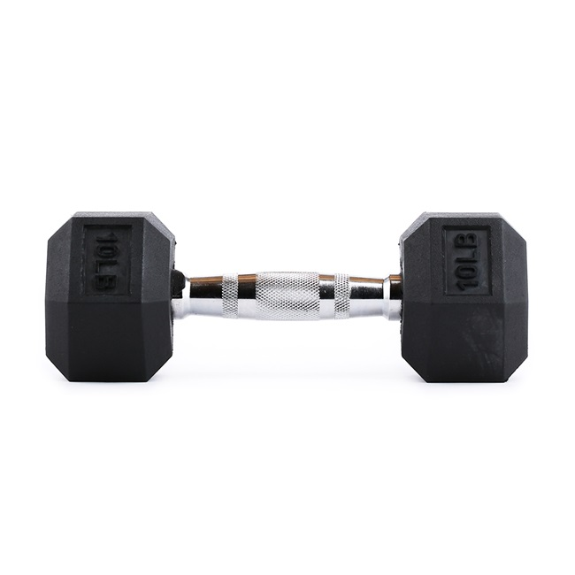 RAGE HEX RUBBER DUMBBELLS