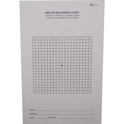 RJ black and white amsler grid recording chart