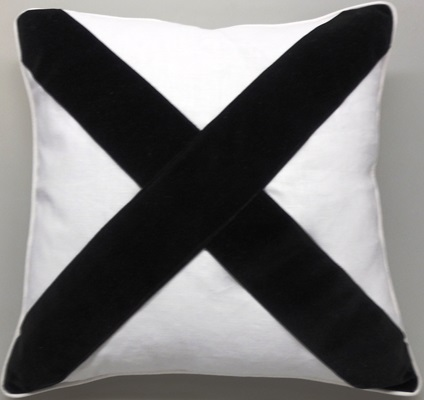 White & Black X Pillow