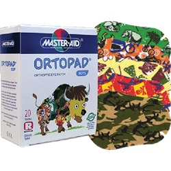 Boys and girls Ortopad Eye Patches with illustrations