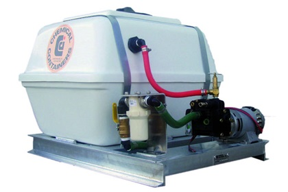 25 Gallon Fiberglass Tank Sprayer Skid