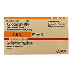 Xylocaine Injectable 1.5%, 30mL