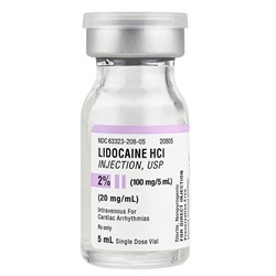 Lidocaine Injectable 2%, 5mL - Preservative Free
