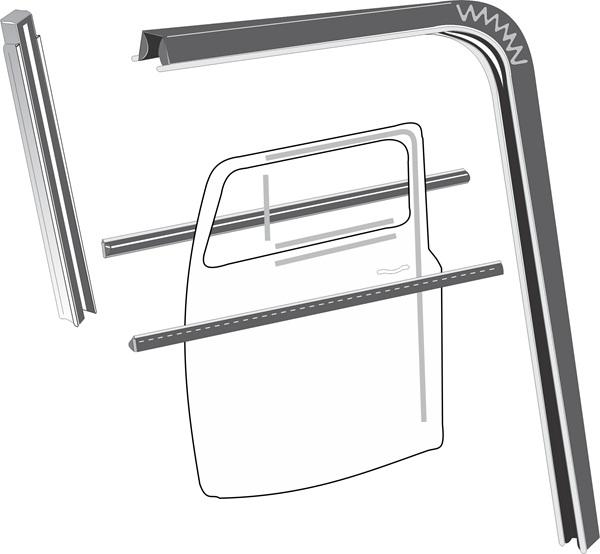 Steele Rubber Products Side Window Run Channel Kit
