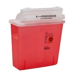5 Quart Translucent Red Container - Locking Horizontal Lid