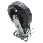 "Swivel 6"" x 2"" Mold on Rubber Caster"