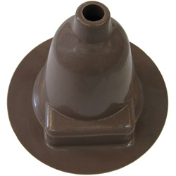 Brown gearshift boot