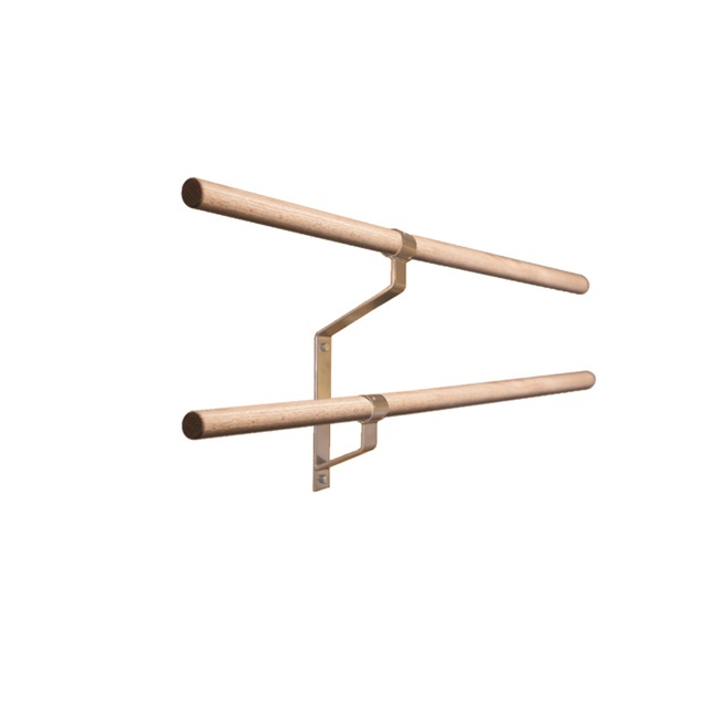 Gibson Wall-Mounted Non-Adjustable Double Ballet Barre