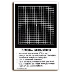 black and white amsler grid chart