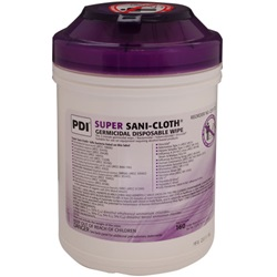 General Disinfectant Wipes - Sani-Cloth Super, Wipe Canister