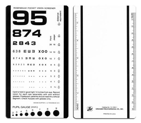 image about Rosenbaum Chart Printable known as Rosenbaum Pocket Eyesight Screener
