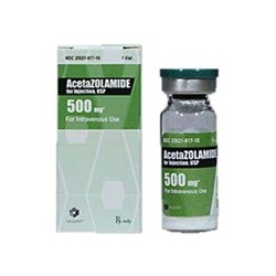 Acetazolamide Sodium Injectable 500mg, 10mL