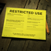 SAFETY ASSESSMENT PLACARDS – Restricted