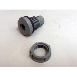 "1"" PVC Self-Aligning Bulkhead Tank Fitting With Viton Seal"