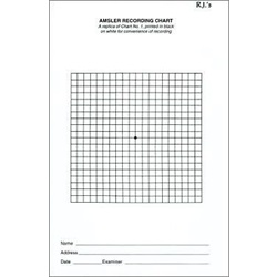 Eye Chart - Amsler Grid Recording Pad