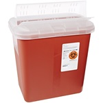 2 Gallon Red Container -  Self Locking Horizontal Lid