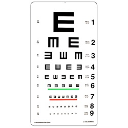 "Tumbling ""E"" visual acuity test"