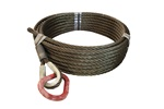 "WIRE ROPE 7/8""X80' W/PEAR RING"