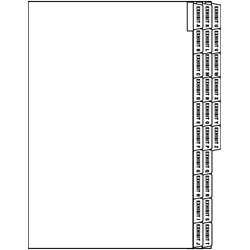 LEGAL EXHIBIT ALPHA INDEX DIVIDER SHEETS - SIDE TAB