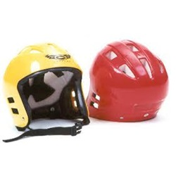 Water Rescue Helmets in yellow and red