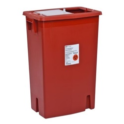 12 Gallon Red Container - Locking Vertical Sliding Lid