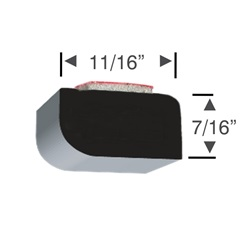 Peel-N-Stick Rectangular Rounded Edge 11/16 x 7/16 - 30 foot