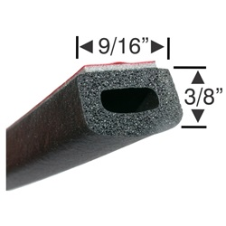 Peel-N-Stick Large Hollow Rectangular - 15ft