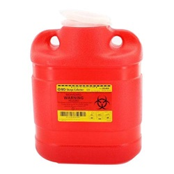6.9 Quart Red Container - Non-Locking Funnel Lid